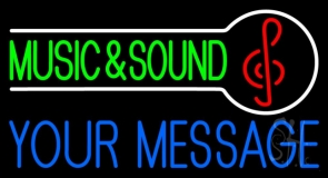 Custom Green Music And Sound Red Note Neon Sign