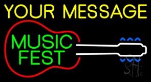 Custom Green Music Fest Neon Sign