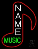 Custom Green Music Logo Neon Sign