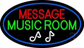 Custom Green Music Room Neon Sign