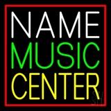 Custom Green Music Yellow Center Red Border Neon Sign