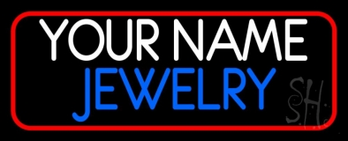 Custom Jewelry Red Border LED Neon Sign