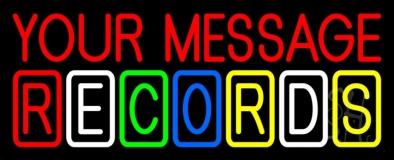 Custom Multicolor Records Block 2 Neon Sign
