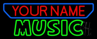 Custom Music Green Block Neon Sign