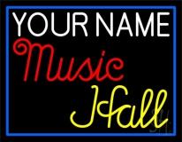 Custom Music Hall Blue Border Neon Sign