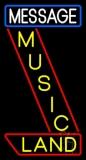 Custom Music Land Yellow Neon Sign
