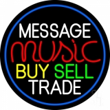Custom Music Red Buy Sell Trade LED Neon Sign