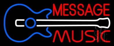 Custom Music Red Guitar Neon Sign