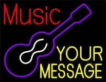 Custom Music Red Guitar Neon Sign