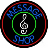 Custom Music Shop Red Border Neon Sign