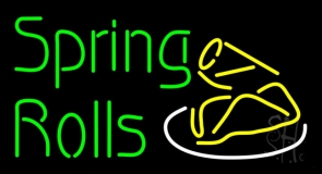 Spring Rolls Neon Sign