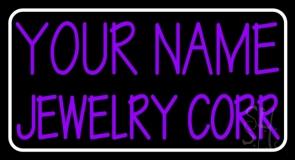 Custom Purple Jewelry White Border LED Neon Sign