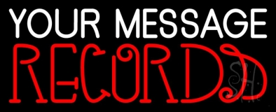 Custom Records 2 Neon Sign