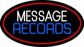 Custom Records Block Red Border 3 Neon Sign