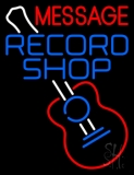 Custom Record Shop Blue With Logo Neon Sign