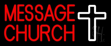 Custom Red Church With Logo Neon Sign