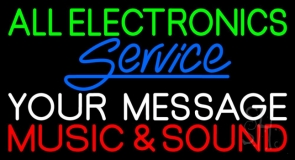 Custom Red Music And Sound Blue Service LED Neon Sign