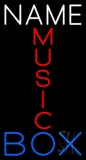 Custom Red Music Blue Box Neon Sign