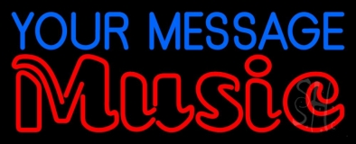 Custom Red Music Double Stroke Neon Sign