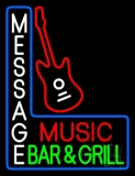 Custom Red Music Green Bar And Grill Neon Sign