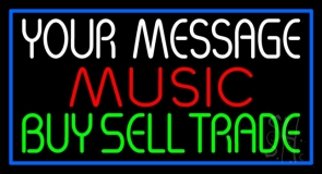 Custom Red Music Green Buy Sell Trade Neon Sign
