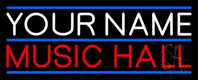Custom Red Music Hall Neon Sign