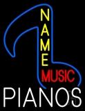 Custom Red Music White Pianos Neon Sign