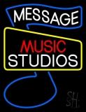 Custom Red Music White Studio Blue Note Neon Sign
