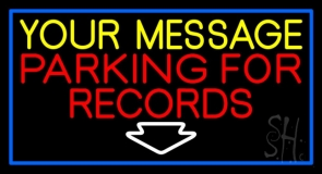 Custom Red Parking For Records Neon Sign