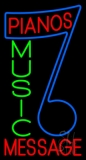 Custom Red Pianos Green Music Blue Note LED Neon Sign