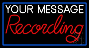 Custom Red Recording Neon Sign