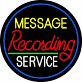 Custom Red Recording White Service And Blue Border Neon Sign
