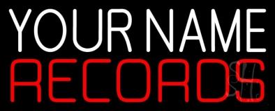 Custom Red Records Block 3 Neon Sign