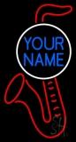 Custom Red Saxophone Logo Neon Sign