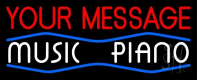 Custom White Music Piano Neon Sign