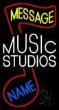 Custom White Music Studio Neon Sign