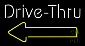 White Double Stroke With Yellow Arrow Neon Sign