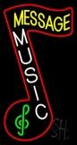 Custom White Music Vertical Neon Sign