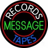 Custom White Records Blue Tapes Neon Sign