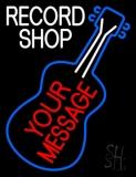Custom White Record Shop Block Neon Sign