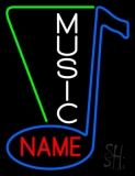 Custom White Vertical Music Neon Sign
