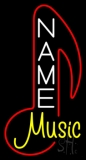 Custom Yellow Music Red Logo Neon Sign