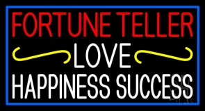 Fortune Teller Love Happiness Success With Phone Number Neon Sign