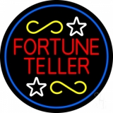Fortune Teller With Blue Border Neon Sign