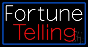 Fortune Telling Blue Border Neon Sign