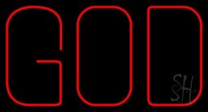 God Block Neon Sign