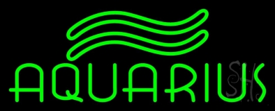 Green Aquarius Neon Sign