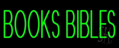 Green Books Bibles Neon Sign
