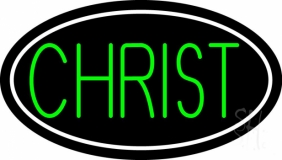 Green Christ LED Neon Sign
