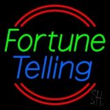 Green Fortune Blue Telling Neon Sign